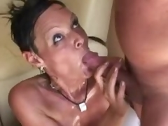 Milf doing it up with 2 males