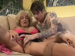 Aged Lexi Carrington gets finger screwed by inked up boy