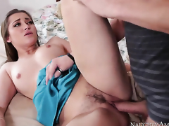 Lustful babe Dani Daniels with juicy booty finds herself getting penetrated by Xander Corvus