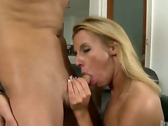Kris Slater didnt know how lucky he was when his dad married the massive tramp in city Taylor Jo. Cock addicted blonde milf didnt wait long to suck her stepsons unbending cock...