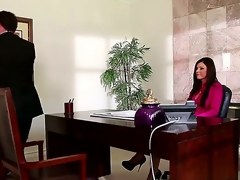 India Summer works in a big company and has a big salary, but her boss doesnt like to pay her so much. One day, this chab came to discuss that thing and received an awesome deepthroat.
