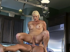 Beautiful blonde milf Rhylee Richards looks astounding and this babe is one of cheating wives! This time this babe is going to be banged so hard by hugecocked dude Keiran Lee. Watch this action!