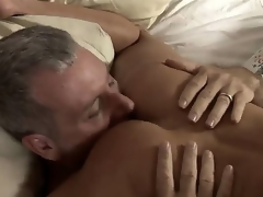 Older milf Shayla Laveaux remains alone at home and invites her neighbor Jay. She takes his penis really deep. This playgirl has big experience in sucking dicks.