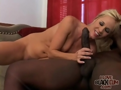 Milf rides big darksome cock with passion