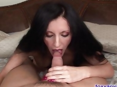 Beautiful MILF Sucks And Slips On a massive Cock