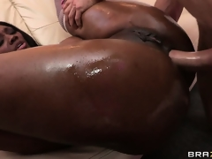 Ass up, he drills her tight ass and jams that rod deep inside