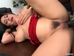 Dean Raylene sucks on his joint and then gets it fur pie injected