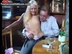Nasty blonde slattern gets lickerish sucking film 3