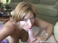 Amateur Bigtit MILF Sucking Cock