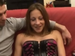 Kate french brunette fucked more than a couch