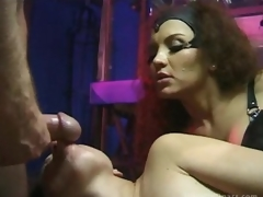 Breasty Latina Dominatrix Fucks Her Sex Slaves Until Getting Facialized