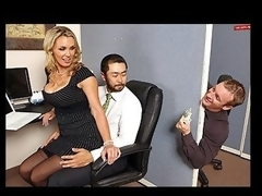Tanya is in love with her co-worker Pete and tries to hook up with him every chance this babe gets. The solely problem is TJ, the knob blocker of the office will at no time let him have her.