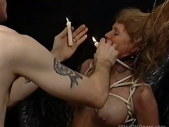 Pliant Blond MILF Gets Tortured in a Sex Dungeon